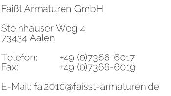 Aalen Steinhauser Weg 4 Faisst Armaturen Edelstahl
