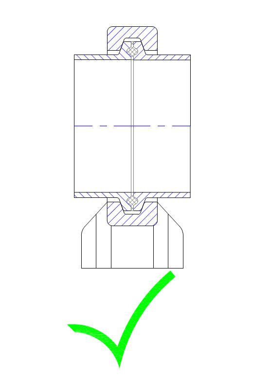 TC-Verbindung gleicher Nennweite
